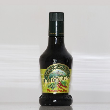HUILE D'OLIVE EXTRA VIERGE -PIMENTS - 25 cl