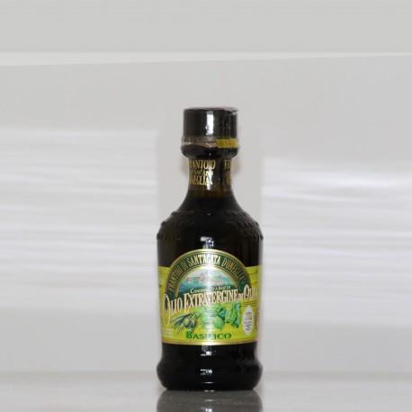 HUILE D'OLIVE EXTRA VIERGE -AU BASILIC-  10 cl