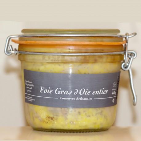 FOIE GRAS D'OIE ENTIER - 440 g