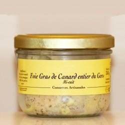 FOIE GRAS de CANARD ENTIER  MI-CUIT  IGP GERS - 350 g