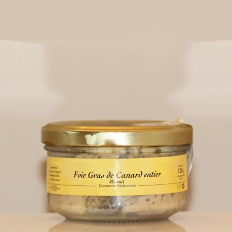 FOIE GRAS de CANARD ENTIER  MI-CUIT  IGP GERS - 120 g
