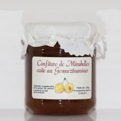 CONFITURE DE MIRABELLES AU GEWURZTRAMINER - 250 g