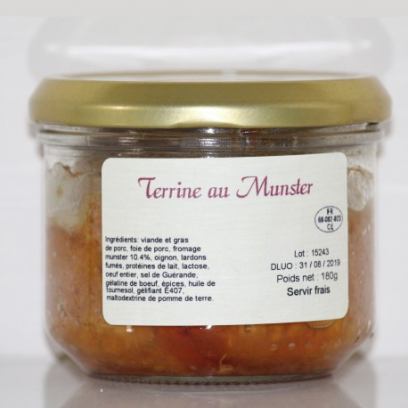 TERRINE AU MUNSTER- 180 g