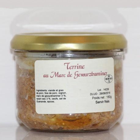 TERRINE AU MARC DE GEWURZTRAMINER- 180 g