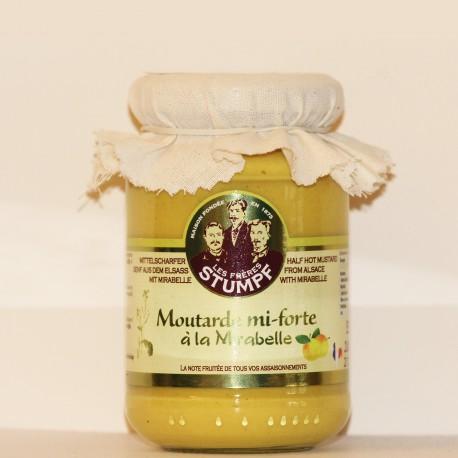 MOUTARDE MI-FORTE D'ALSACE SAVEUR MIRABELLE- 200 g