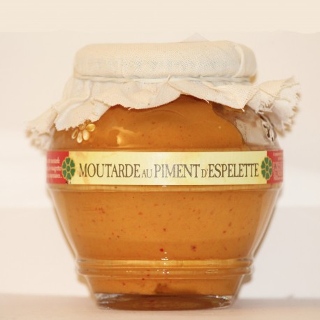 MOUTARDE AU PIMENT D'ESPELETTE- 200 g